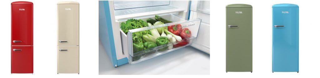 ETNA Bella Cucina! Retro koelkast in smakelijke kleurtjes