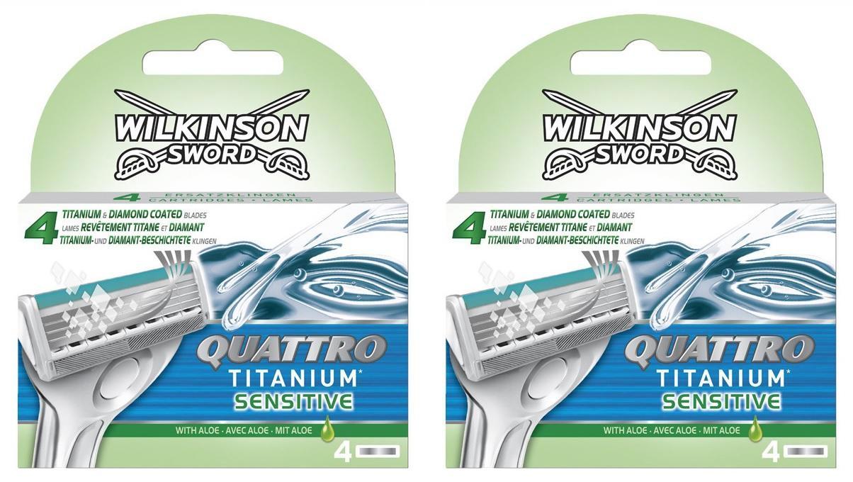 Wilkinson Scheermesjes - Quattro Titanium Sensitive
