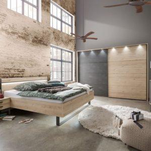Set nachtkastjes Bjorn 60cm met opzet en verlichti