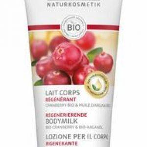 Lavera Bodymilk/bodylotion regenerating cranberry F-D 200ml